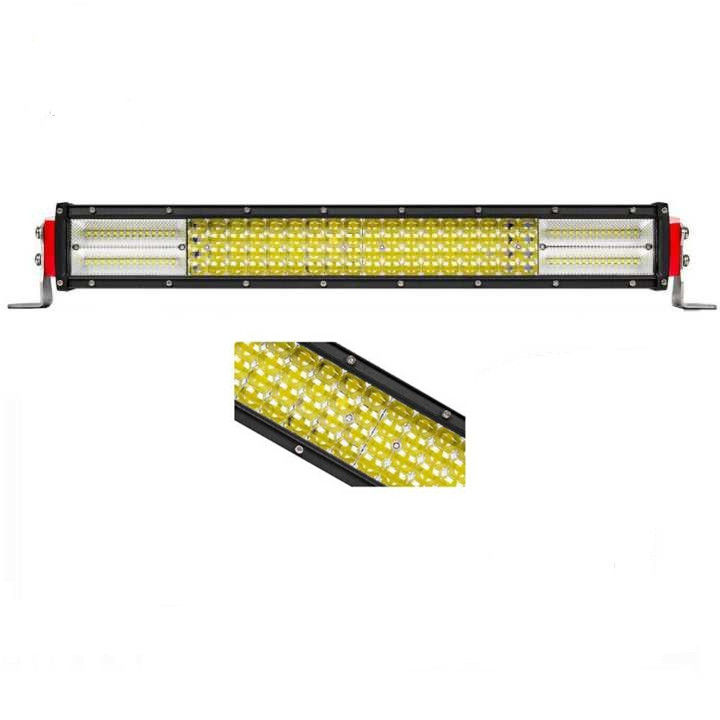 42 Inches Off Road Led Light Bar 12 D Reflector 4 Row Stainless Steel Bracket