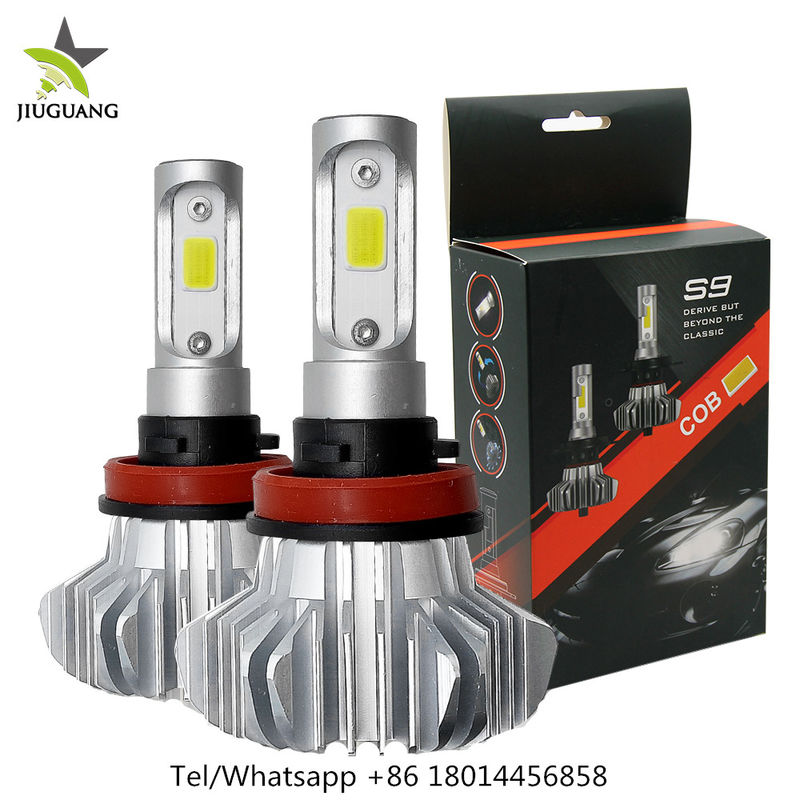 360° Beam Angle Led Headlight Bulbs , S9 9006 Fanless H7 Led Bulb