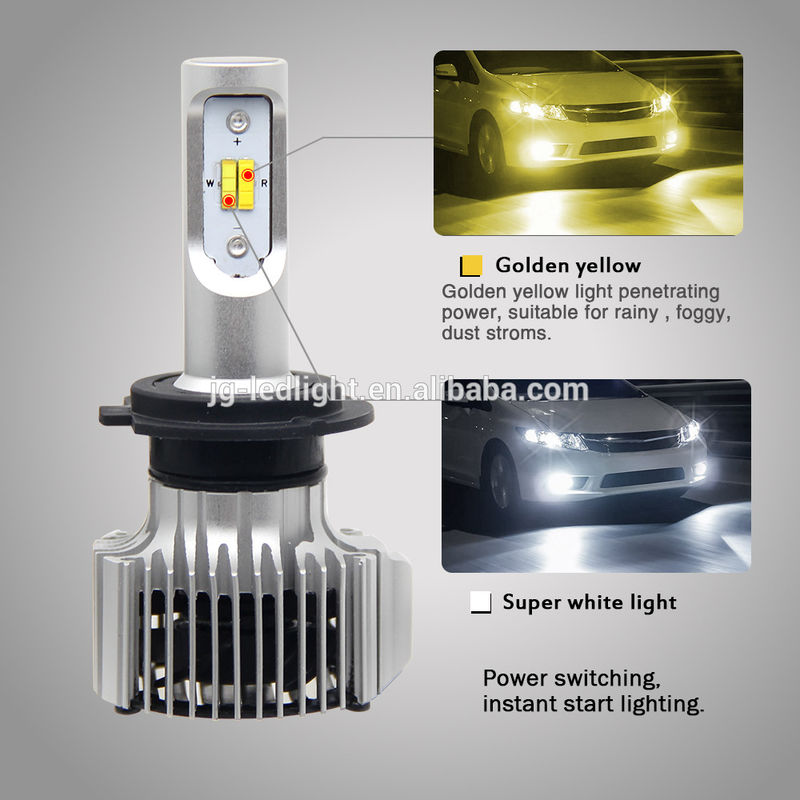 Led Auto Lights >> Dual Color Led Auto Fog Lights White Yellow 6500k 3000k Color