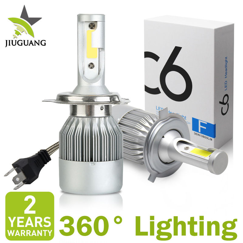 Adjustable 36W Led Car Headlight Bulbs Canbus Error Free Auto Led Lighting System