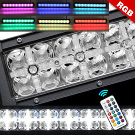 9 - 32 V Rgb Double Row Led Light Bar Halo Multi Color High Low Beam