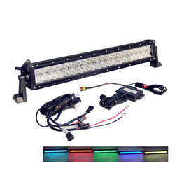Bluetooth Control Wholesale  5d RGB jeep Led Light Bar Driving Light 22 Inch Off road