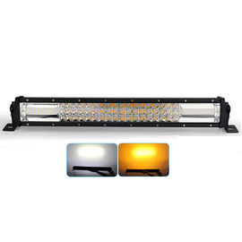 China High Power Led Fog Light Bar , Amber Led Strobe Lights Double Color Temperature factory