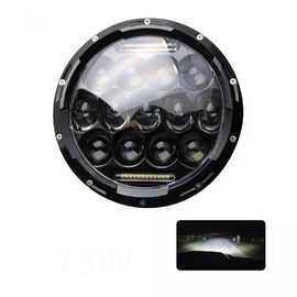 China 6000 K 7 Inch Round Led Headlights 9 - 30 V Voltage For JEEP Motorcyle factory