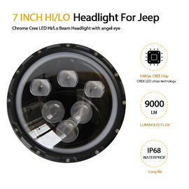 China 4x4 SUV / ATV 7 Inch Round Led Motorcycle Headlight 6 Cree OEM Service factory