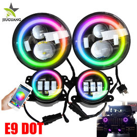 Offroad 4x4 Led Fog Lights , Multi Color Changing 7 Inch Round Headlights