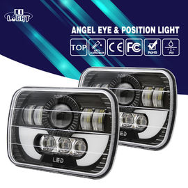 High Low Beam 55w 25W 5x7 Led Headlights 6500K IP68 With ROHS Standard