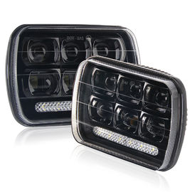 High Low Beam Square Car 5x7 Led Headlights H4 IP68 Square Shape Black Color