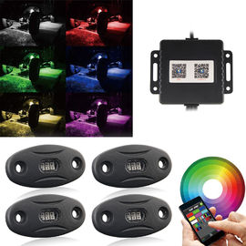 4 Pods Rock Led Motorcycle Headlight Remote Controlled Bluetooth Multicolor Lamp