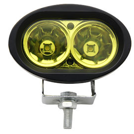 6500k Amber Led Vehicle Work Light 2000lm / 20w 4 Inch Led Work Lights For Trucks